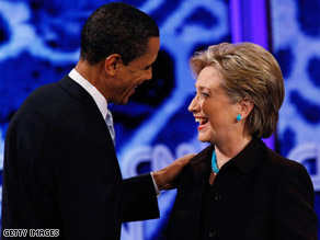 Clinton and Obama met in Washington Thursday night. 