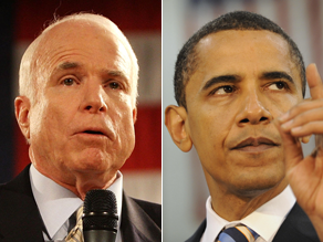 Obama has a slight lead over McCain in a new poll.