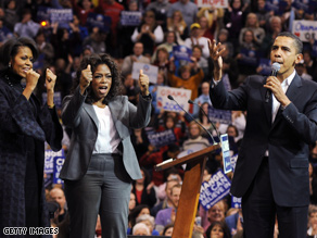 Oprah hit the trail for Obama during the primary season.