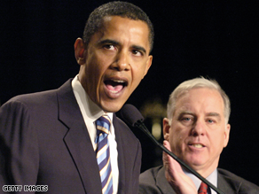 Barack Obama and Howard Dean.