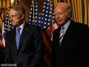 Reid is standing by Lieberman.