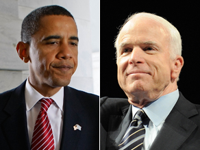 Obama and McCain are neck and neck.