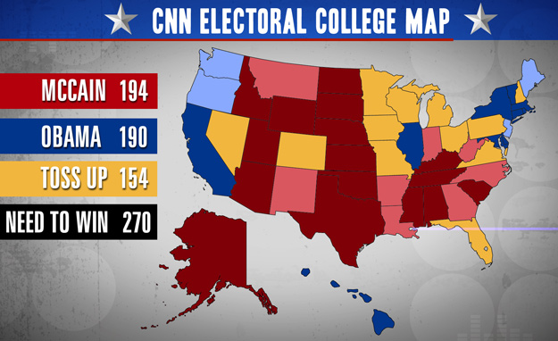 CNN will be projecting Electoral College results through Election Day.