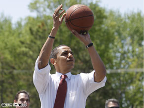 Obama rooting for the Celtics.