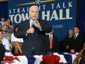 McCain ads appeared on several Web sites run by Hillary Clinton supporters.