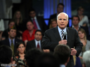 Sen. McCain challenged Sen. Obama to town hall debates Friday.