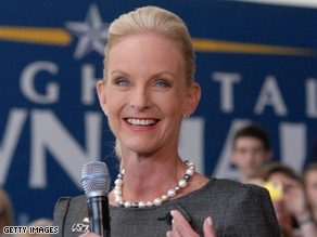 Cindy McCain is en route to the nation of Georgia.
