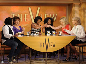 Michelle Obama on 'The View' yesterday.