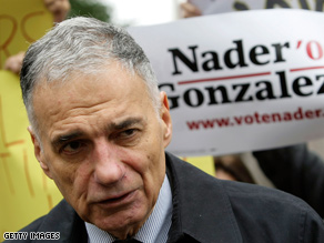 Nader's campaign is taking aim at Democratic presidential candidate Barack Obama in a new fundraising pitch.