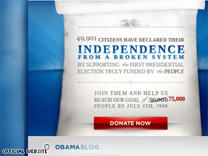This image is directly from Barack Obama's official website.