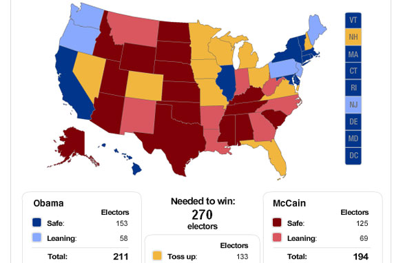 cnn projected electoral map