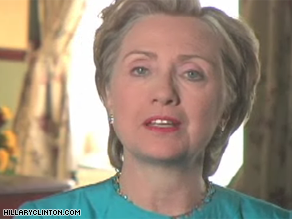 Clinton is appealing for help in paying of her debt in a new Web video.