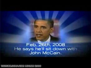 Sen. Obama stars in the latest web ad released by his rival Sen. John McCain.