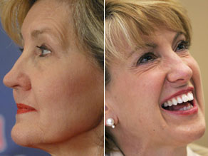 Texas Sen. Kay Bailey Hutchison and former HP CEO Carly Fiorina, suggested as two potential McCain running mates.(GETTY IMAGES)