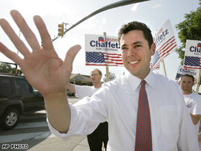 Jason Chaffetz defeated Republican Rep. Chris Cannon Tuesday night .