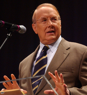 Dr. James Dobson, talks in in Louisville, Ky. April 2005.