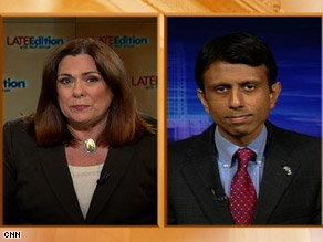 CNN's Candy Crowley interviews Louisiana Gov. Bobby Jindal on Sunday.