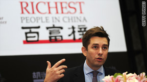 "Rupert Hoogewerf, founder of the Shanghai-based Hurun Report, announces this year's ""Rich List"" on October 13."