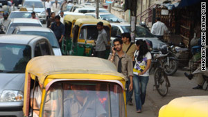 New Delhi has become the sprawling home of 17 million and more than half a million cars.