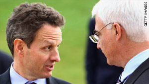 U.S. Secretary of the Treasury Timothy Geithner and British Finance Minister Alistair Darling.