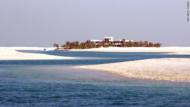 "A house on one of the islands of 'The World"" created by Nakheel, Dubai World's real estate arm."