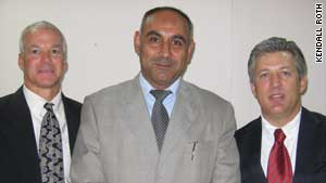 Left to right, Dr. Kendall Roth, Dr. Sabah Mahmood of Tikrit University, and Dr. Scott Koerwer.