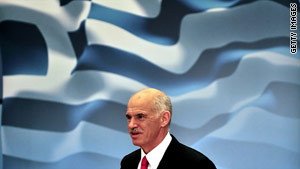 Socialist party leader George Papandreou won the 2009 elections with a promise to strengthen the Greek economy.