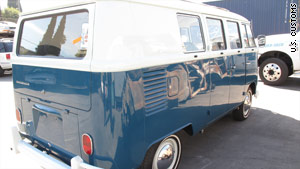 The 1965 Volkswagen van is in pristine condition, officials say.