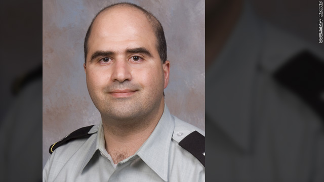Maj. Nidal Malik Hasan, a U.S.-born citizen of Palestinian descent, is accused of killing 13 people.