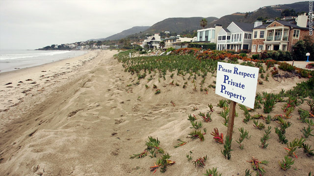 When it comes to beachfront property, where do private rights end?
