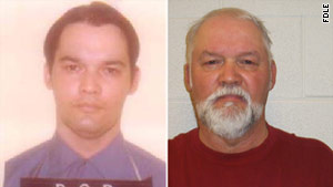 Oscar Eugene Richardson is shown before his 1979 escape, left, and after his Saturday capture.