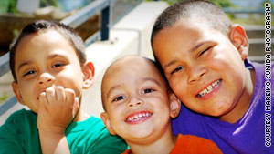 Yessica Maher is trying to find the H1N1 vaccine for her children Devin, Aiden, and Jonathan.