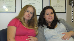 Nancy Brizendine, 42, and her daughter Kayla Yost, 22, are both pregnant and had H1N1.