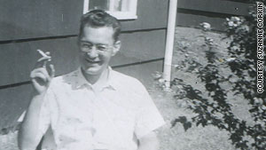 Henry Molaison, seen here in front of his family's home in 1958, suffered amnesia after an operation.