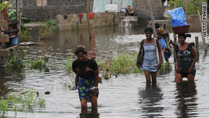 Increased flooding could lead to more cases of diarrheal diseases such as cholera.