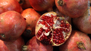 Fresh pomegranates are at their peak this time of year, so use their seeds to add taste and a unique accent.