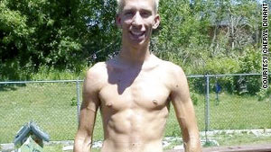 Jason Dinant dieted and exercised his way to a six-pack this June as part of his New Year's resolution in 2009.