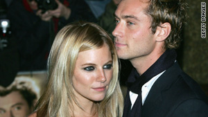 Actors Sienna Miller and Jude Law were engaged when he had an affair with a nanny who tended to one of his kids.
