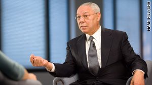 """We need more African-American men to step forward and serve as mentors to young kids,"" Colin Powell says."