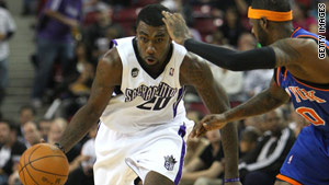 Dont� Greene of the NBA's Sacramento Kings saved a woman from drowning on Memorial Day.