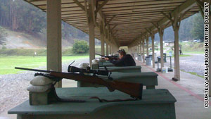 Members of the Bull Moose Hunting Society hone their skills at the Chabot Gun Club in Castro Valley, California.