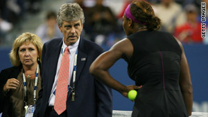 Serena Williams faced a $10,000 fine for her profane tirade  against a U.S. Open at a lineswoman.