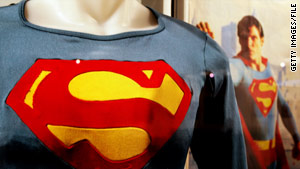The Superman costume worn by Christopher Reeve in Superman III was auctioned off in Australia in May.
