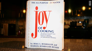 A well-thumbed edition of a well-loved cookbook.
