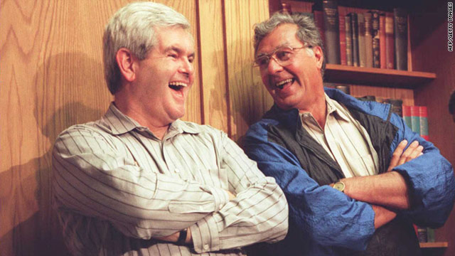Newt Gingrich and Dick Armey, pictured in friendlier days in 1995, are rivals on upstate NY race.