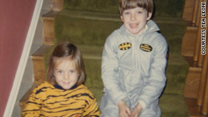 Téa Leoni pictured with her brother in their Halloween costumes.