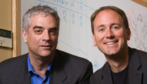 Nicholas Christakis, left, and James Fowler