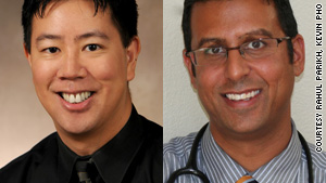 Drs. Kevin Pho, left, and Rahul Parikh, say tens of millions lack access to primary care doctors.