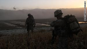 U.S. troops on patrol in Paktika Province, Afghanistan