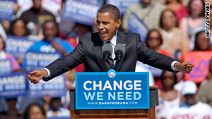Democrat Barack Obama campaigned in 2008 on a message of change.